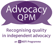 Recognising quality in independent advocacy logo